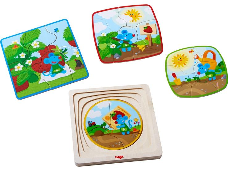 Puzzle - układanka Truskawkowa Myszka