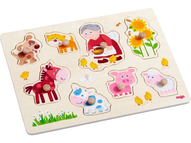 Puzzle nakładane Lena i zwierzątka