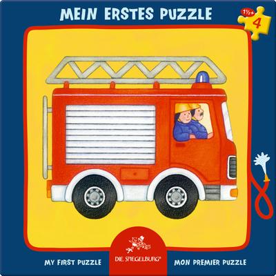 Puzzle w ramce - Wóz strażacki